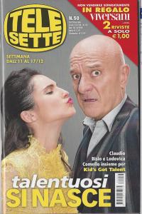 Claudio Bisio e Lodovica Comello in copertina di Telesette 50