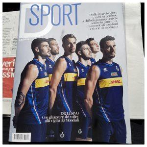 La copertina di D, allegato a la Repubblica del 25 agosto interamente dedicato allo sport